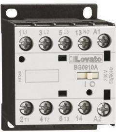 11BG1210D024 Lovato contactor 3 pole AC3:12A 5.7kw 24vdc coil 1no aux