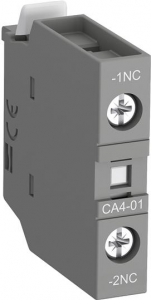 ABB ca4-01-t front mounted 1nc instantaneous aux contact block