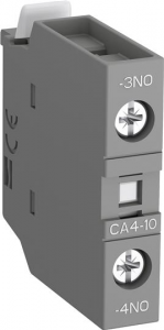 ABB ca4-10-t front mounted 1no instantaneous aux contact block