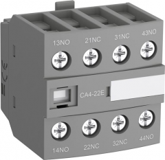 ABB ca4-40u front mounted 4no instantaneous aux contact block