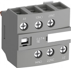 ABB cat4-11u front mounted instantaneous aux contact block with a1/a2 coil terminal blocks