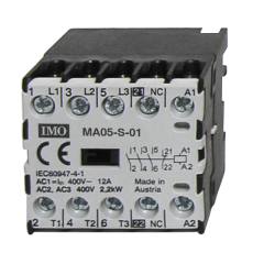 imo ma05-r-s-00-4042ac micro contactor reverse pair, 4 pole 2.2kw, 5a ac3. 42vac coil