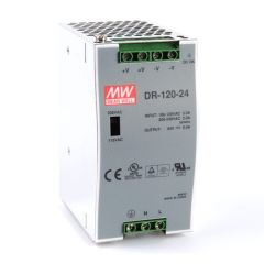 DR-120-24 Power Supply 85-264VAC 1 Phase input, output 24 volts DC 5.0 Amps