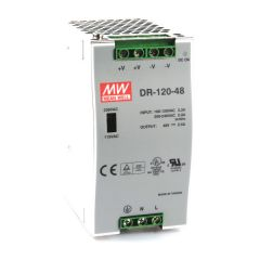 DR-120-48 Power Supply 85-264VAC 1 Phase input, output 48 volts DC 2.5 Amps