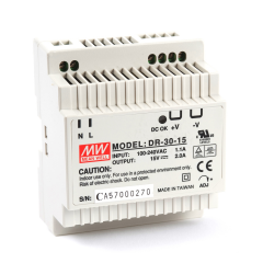 Mean well DR-30-15 30 Watt Power Supply 15V 2.00A output