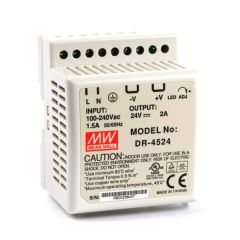 DR-45-24 Power Supply 85-264VAC 1 Phase input, output 24 volts DC 2.0 Amps
