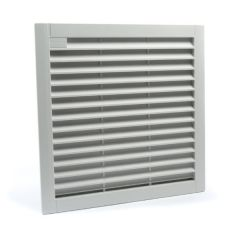 FK 7726.300 ETE Louvered grill with filter for FK 7726, LFB 5000, and LFB 7000 series fans