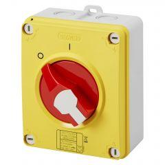 GW70436P Gewiss Enclosed Isolator 32A 4P R/Y IP66/67/69