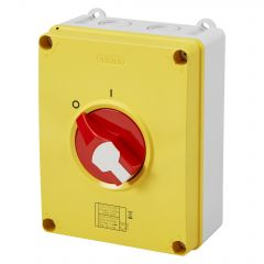 GW70438P Gewiss Enclosed Isolator 63A 4P R/Y IP66/67/69