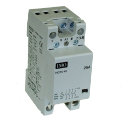imo hc25-04230 modular heating contactor 25a 4 pole nc, 230vac coil
