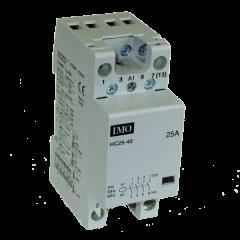 imo hc25-4024vs modular heating contactor 25a  4 pole no, 24vac/dc coil