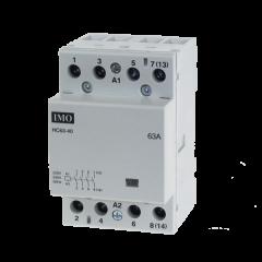 imo hc40-40230 modular heating contactor 40a 4 pole no, 230vac coil