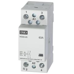 imo hc63-20230 modular heating contactor 63a 2 pole no, 230vac  coil