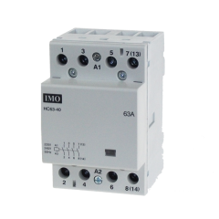 imo hc63-40230 modular heating contactor 63a 4 pole no, 230vac coil