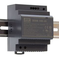 HDR-100-24 Power Supply 85-264VAC 1 phase input, output 24 volts DC 3.8 Amps