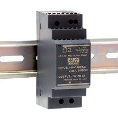 HDR-30-5 Power Supply 85-264VAC 1 phase input, output 5 volts DC 3.0 Amps