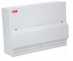 ABB hsse4186c 8 way steel enclosed consumer unit split 4+4