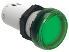 lovato lpmlb3 green led pilot light 24vac/dc 22mm