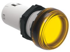 lovato lpmlb5 yellow led pilot light 24vac/dc 22mm