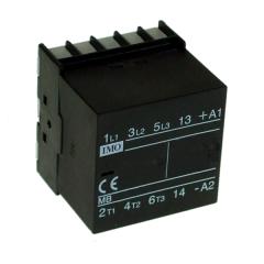 imo mb12-p-10230 mini contactor 3 pole n/o 5.5kw 12a ac3, 1 no aux pcb mount, 230vac
