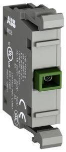 abb modular contact block normally open 1n/o contacts mcb-10