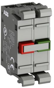 abb modular double contact block normally closed 1n/c and normally open 1n/o contacts mcb-11
