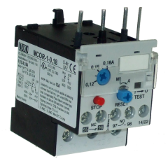 imo mcor-1-0.18 thermal overload relay for mc10-mc22 contactors 0.12-0.18 amps