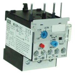 imo mcor-1-2.7 thermal overload relay for mc10-mc22 contactors 1.8-2.7 amps