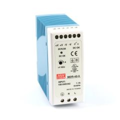 MDR-40-5 Power Supply 85-264VAC 1 Phase input, output 5 volts DC 6.0 Amps
