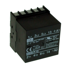imo mb09-p-1024ac mini contactor 3 pole n/o 4kw 9a ac3, 1 n/o aux, pcb mount, 24vac