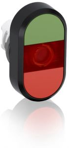 abb illuminated momentary double flush pushbutton green/red no text mpd1-11r