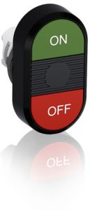 abb momentary double flush pushbutton green/red on/off mpd3-11b