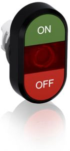 abb illuminated momentary double flush pushbutton green/red on/off mpd3-11r