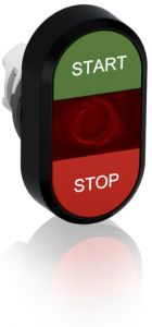 abb illuminated momentary double flush pushbutton green/red start/stop mpd4-11r