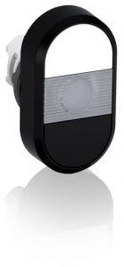 abb illuminated momentary double flush pushbutton white/black no text mpd5-11c