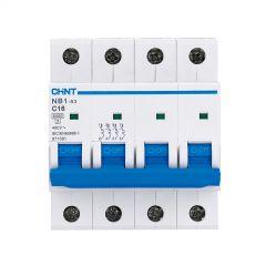chint mcb nb1-63ch4p03 3a, 4p 10ka 4p c curve