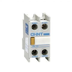 nc1-f420 chint contactor head mount auxillary block with 2no contacts
