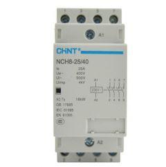 nch8-63/22-230v chint modular contactor 63a 4 pole 2no 2nc 230vac