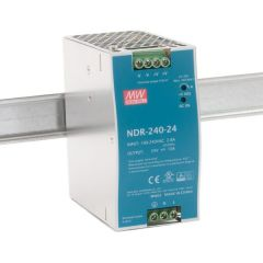 NDR-240-24 Power Supply 90-264VAC 1 Phase input, output 24 volts DC 10 Amps