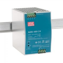 NDR-480-24 Power Supply 90-264VAC 1 Phase input, output 24 volts DC 20 Amps