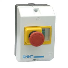 ns2-25-mc01 chint enclosure with emergency stop to fit ns2-25 frame