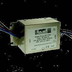 imo panel mount rfi filter 1phase, 200v, 29amp for emc compliance