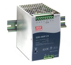 SDR-480P-24 Power Supply 90-264VAC 1 phase input, output 24 volts DC 20.0 Amps
