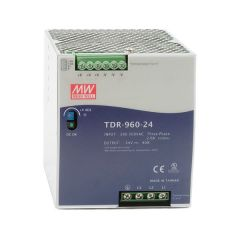 TDR-960-24 Power Supply 340-550VAC 3 phase input, output 24 volts DC 40.0 Amps