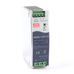 WDR-120-12 Power Supply 1ph and 3ph in input, output 24 volts DC 10.0 Amps