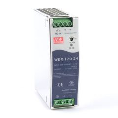 WDR-120-24 Power Supply 1ph and 3ph in input, output 24 volts DC 5 Amps