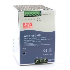 WDR-480-48 Power Supply 1ph and 3ph in input, output 48 volts DC 10.0 Amps