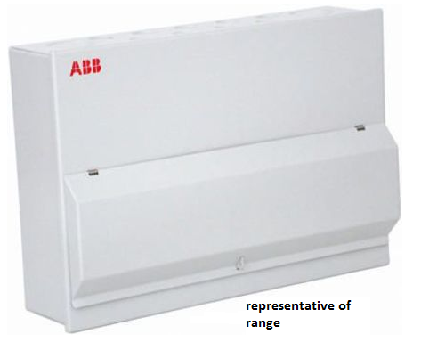Image of ABB HSMS20C 20 way steel enclosed consumer unit